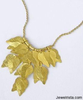22 Karat Leafwork Jewelry Collection By Anat Gelbard