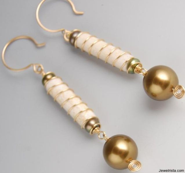 Bead Earrings by Jewelry Designer Alexandra Amaro