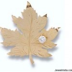 Diamond Canada Maple Leaf Brooch