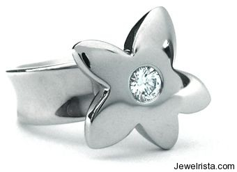Diamond Flower Ring By Shelly Purdy