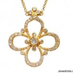 Diamond and Gold Necklace By Erica Courtney