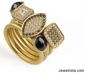 Diamond and Gold Rings By Osnat Weingarten