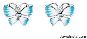 Diorette Diamond Butterfly Earrings by Jewelry Designer Christian Dior