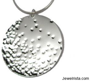 Silver Disc Necklace By Jessie Turner