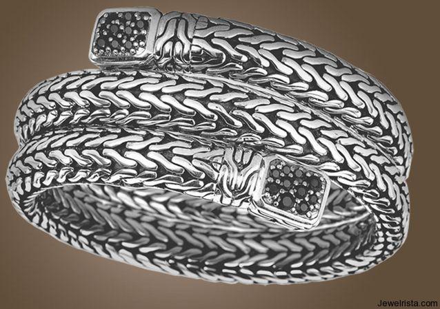 Double Coil Silver Bracelet by Jewelry Designer John Hardy