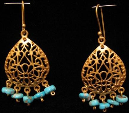 Firouzeh Collection Earrings By Touran Reddaway