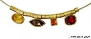 Gemstone Necklace By Osnat Weingarten