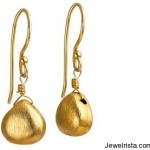 Gold Drop Earrings By Claudia Bradby