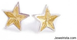 Gold Star Stud Earrings By Jessie Turner