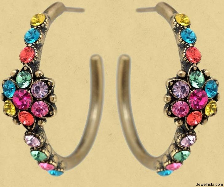 Hoop Earrings by Jewelry Designer Michal Negrin