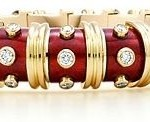 Jean Schlumberger Diamond and Enamel Bracelet