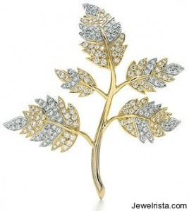 Jean Schlumberger Five Leaves Diamond Brooch