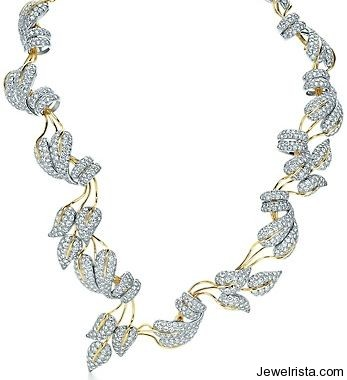 Jean Schlumberger Leaves Diamond Necklace Jewelry