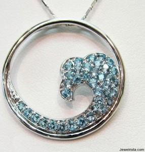 Necklace Wave Jewelry Design