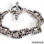 Silver Twist Link Bracelet By Dian Malouf