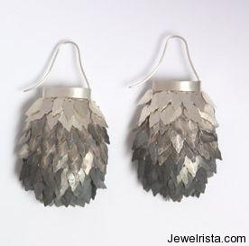 Handmade Sterling Silver Earrings By Anat Gelbard