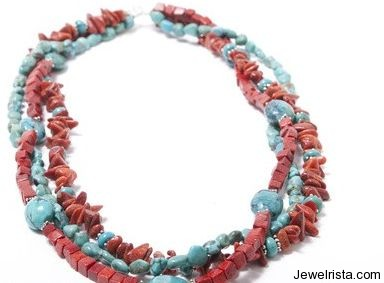 Tibetan Turquoise & Bali Silver Necklace By Laura Marshall