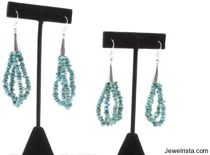 Tibetan Turquoise Earrings By Laura Marshall