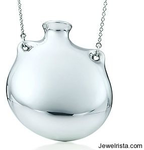 Tiffany & Co Sterling Silver Bottle Necklace By Elsa Peretti
