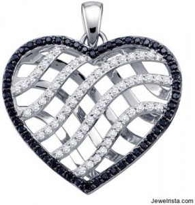 Valentine's Day Diamond Heart Pendant Jewelry