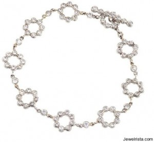White Gold Bracelet By Erica Courtney
