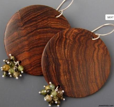 Wood Earrings By Alexandra Amaro