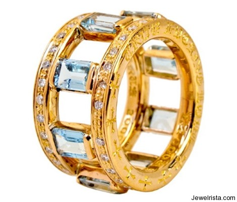 CH+KH 22K Double Stack Ring