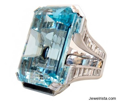 CH+KH Aquamarine Ring