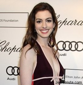 Anne Hathaway with Earrings by Chopard