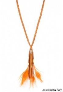 cynthia dugan orange feathers necklace singer22
