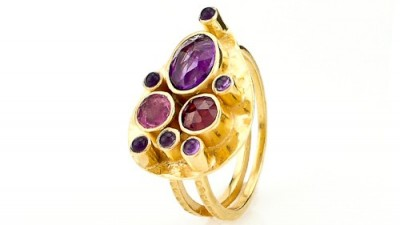 Capri Teardrop Ring by Jewelry Designer Robindira Unsworth