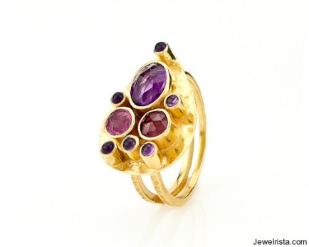 Capri Teardrop Ring by Robindira Unsworth