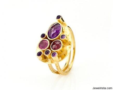 Capri Teardrop Ring by Robindira Unsworth