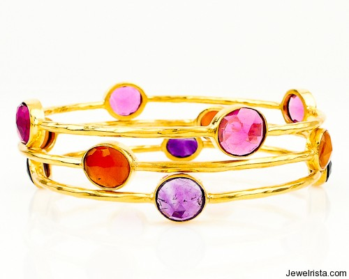 Juicy Bangles by Jewelry Designer Robindira Unsworth