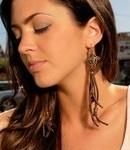 Cynthia Dugan brown leather earrings
