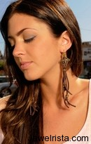 Cynthia Dugan brown leather earrings