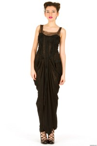 black drape gown maria pryor