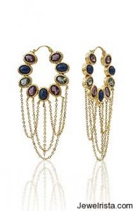 Isharya dangling earrings glass