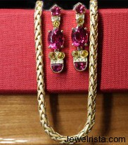 sapphire pink tourmaline earrings deleuse jewelry