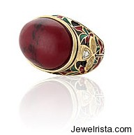 red turquoise ring isharya