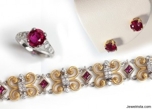 ruby jewlery 2 and 3 carats