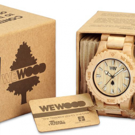 Wooden Watch - Green Gift Idea
