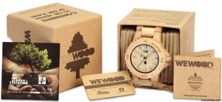 Wooden Watch - Green Gift Idea