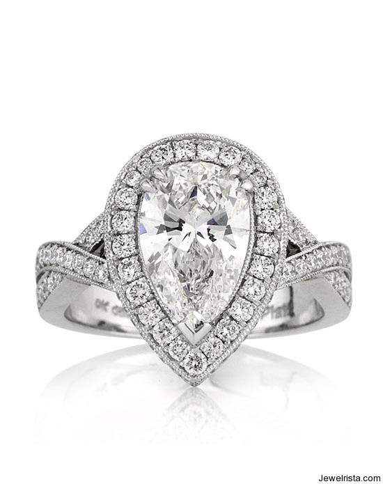 3df792e25 Pear Cut Engagement Ring (Mark Broumand) 3-4