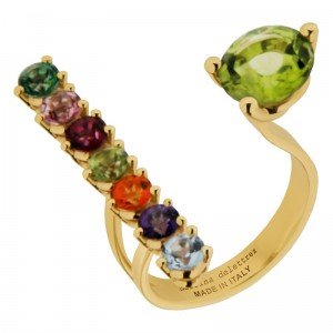Gold Vein Ring by Delfina Delettrez 680 Euro 6 multicolor topazes