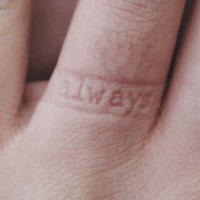 Inner Message Ring 3 Always on Finger