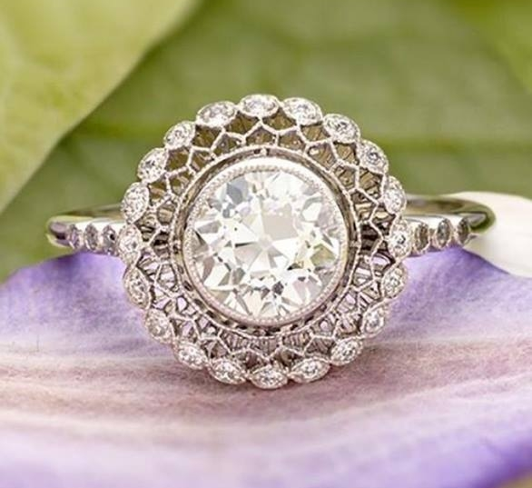 Antique Wedding Rings Floral
