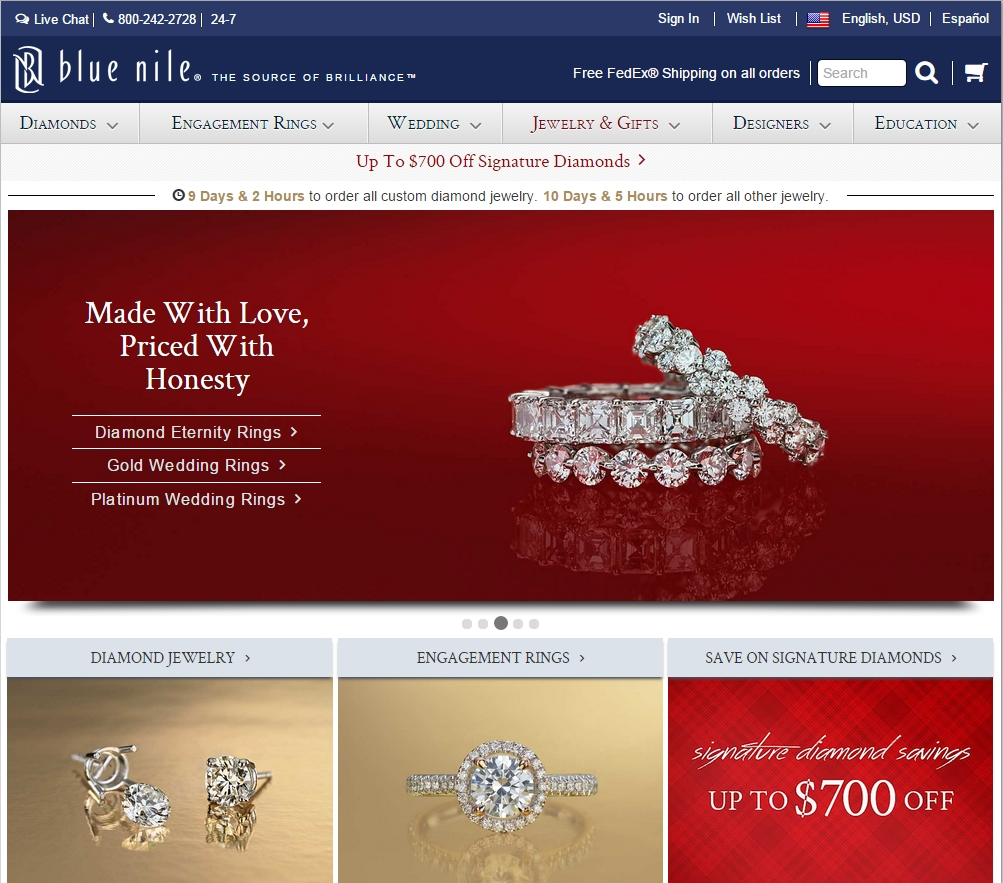 Best Online Jewelry Stores 1 Blue Nile