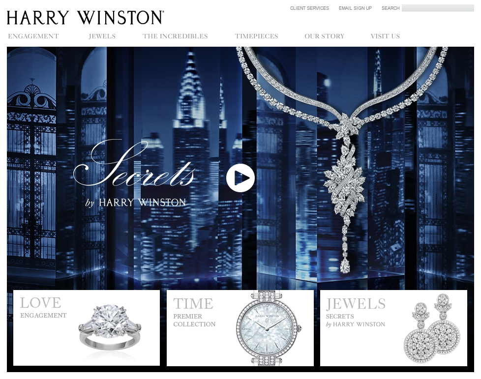 Best Online Jewelry Stores 5 Harry Winston