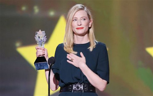 Cate Blanchett with a Gaia Repossi Ring at Annual Critics Choice Movie Award